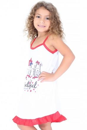 Camisola Infantil 141 (Vermelha com ursinho)