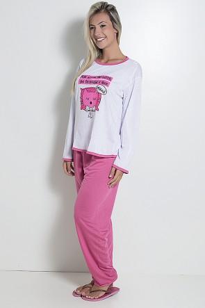 Pijama Feminino Longo 074 (Pink) CEZ-PA04-001