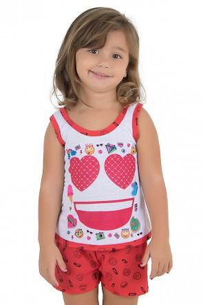Baby-doll de Malha infantil 204 (Vermelho) | Ref.: CEZ-PA204-005