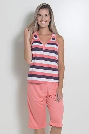 Pijama Pescador 239 (Salmão listrado)