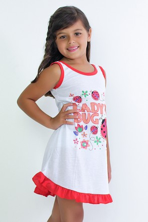 Camisola Infantil 060 (Vermelha com joaninha)