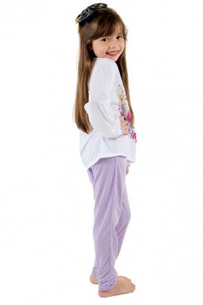 Pijama longo infantil 076 (Lilás) CEZ-PA076-002