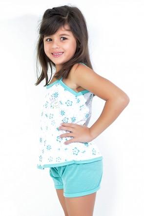 Babydoll Infantil 086 (Verde priscina) - AB | Ref: CEZ-PA086-003