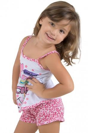 Baby-doll de malha Infantil 201 (Pink) | Ref.: CEZ-PA201-002