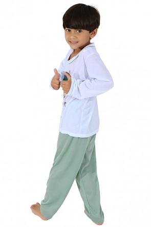 Pijama Infantil Longo 140 (Verde) CEZ-PA140-001