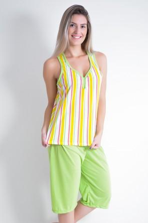 Pijama Pescador 239 (Listrado amarelo)
