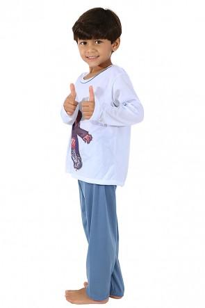 Pijama Infantil Longo 140 (Azul) CEZ-PA140-002