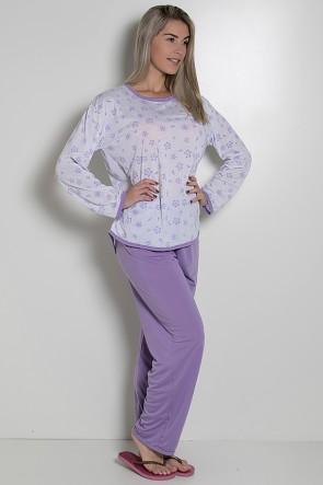 Pijama Longo Feminino 075 (Lilás) AB CEZ-PA075-004
