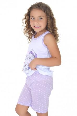 Pijama pescador infantil 275 (Lilás) | Ref: CEZ-PA275-001