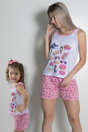 Babydoll Tal mãe e tal filha (FILHA) | Ref: CEZ-PA204-002