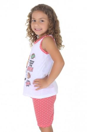 Pijama pescador infantil 275 (Goiaba) | Ref: CEZ-PA275-002