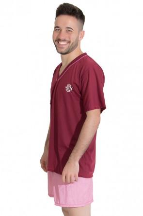 Pijama Masculino 071 (Vinho) | Ref: CEZ-PA071-001