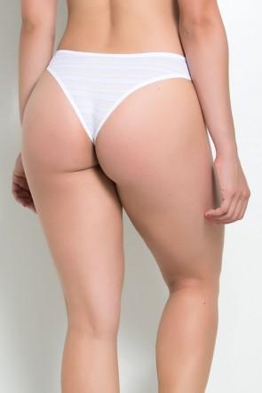 Calcinha Lis (Branco com Listras Coloridas) | Ref: KS-A195-001