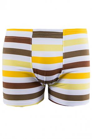 Cueca Boxer 4 Agulhas Microfibra 494 (Avulsa) Amarelo Listrado | Ref: CEZ-CZ494-010