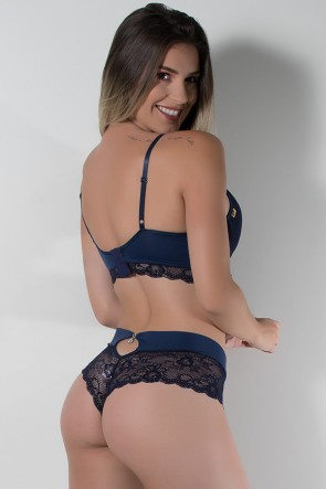 Conjunto Ana Clara 503 (Azul Marinho) | Ref: CEZ-TT503-006