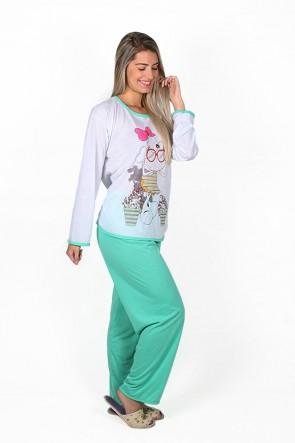 Pijama Feminino Longo 074