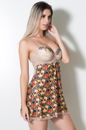 Camisola com Renda 346 (Floral com Renda) | Ref: KS-B225-003
