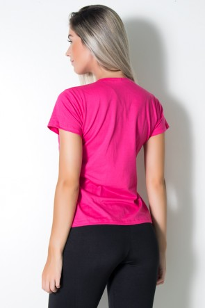 Camiseta Feminina Show Your Body Some Love (Rosa Pink) | Ref: BES001-006