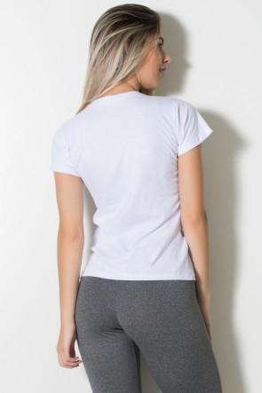 Camiseta Feminina (The Gym is my Happy Place) (Branco) | Ref: BES002-002