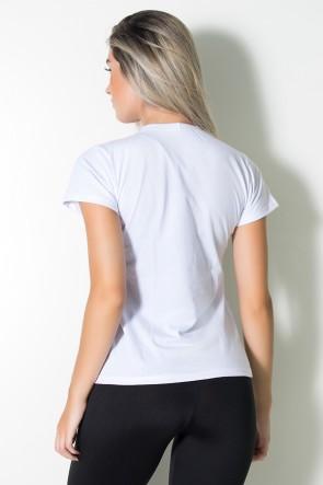 Camiseta Feminina Love Fitness (Branco) | Ref: BES003-002