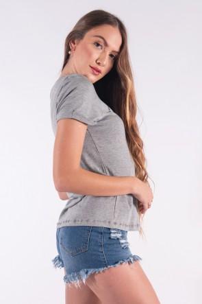Blusa Nózinho com Silk Fases Da Lua (Mescla) | Ref: K2837-C