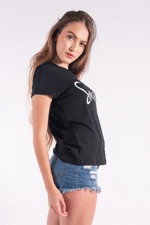 Blusa Nózinho com Silk Smile (Preto) | Ref: K2840-A