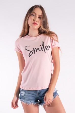 Blusa Nózinho com Silk Smile (Rosa bebê) | Ref: K2840-D