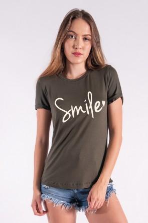 Blusa Nózinho com Silk Smile (Verde Militar) | Ref: K2840-I