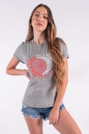 Blusa Nózinho com Silk Sol e Lua (Mescla) | Ref: K2841-C