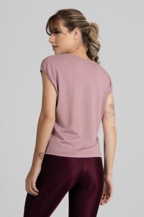 Blusa Viscolycra com Decote V (Rosê) | Ref: GO411-C