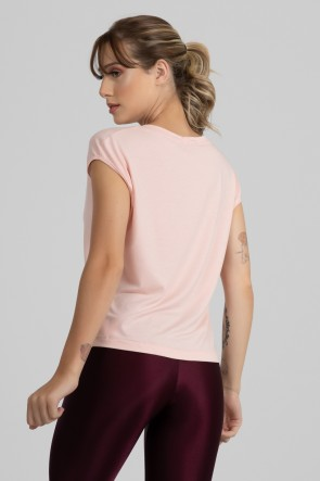 Blusa Viscolycra com Decote V (Rosa Claro) | Ref: GO411-B