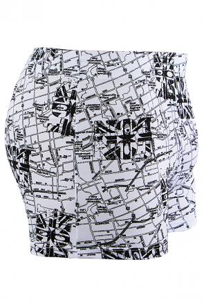 Cueca Boxer 4 Agulhas Microfibra 494 (Avulsa) Branco Estampado | Ref: CEZ-CZ494-005