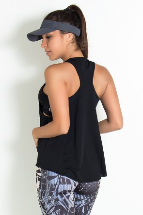 Camiseta Dry Fit com Bolso Marissol (Preto) | Ref: KS-F273-001