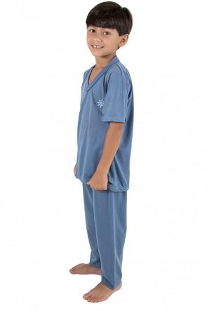 Pijama infantil masculino 103 (Azul acinzentado) | Ref: CEZ-PA103-002