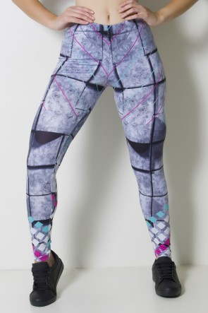 Calça Legging Sublimada Concrete Blocks  | Ref: CAL353-041