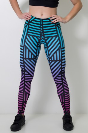 Calça Legging Sublimada Black Lines | Ref: CAL360-041
