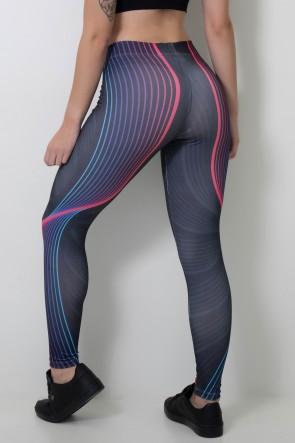Calça Legging Sublimada Curved Lines  | Ref: CAL363-041
