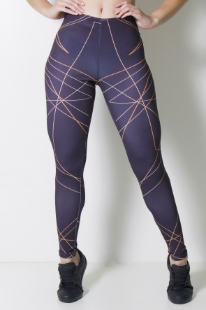 Calça Legging Sublimada Scrawl | Ref: CAL375-041
