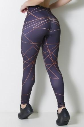 Calça Legging Sublimada Scrawl | Ref: CA375-041-000