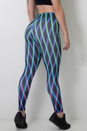 Calça Feminina Legging Sublimada Greengrid | Ref: CAL388-041