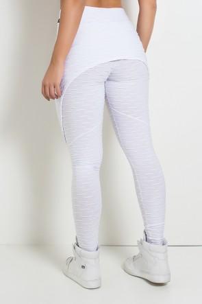 Calça Aranha Tecido Bolha (Branco) | Ref: KS-F309-002