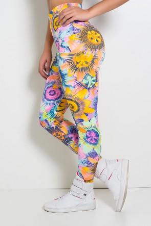Legging Estampada Girassol Fluorescente | Ref: KS-F27-073