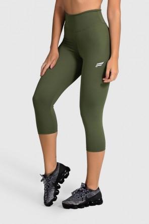 Calça Corsário de Poliamida Básica (Verde Militar)   Ref: GO2-I