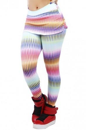 Calça Legging Saia Franzida | Ref: F122