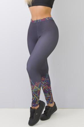 Calça Feminina Legging Sublimada Color Lines | Ref CAL376-041