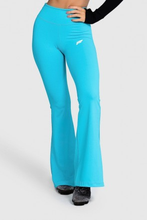 Calça Flare de Poliamida Básica (Azul) | Ref: GO4-E