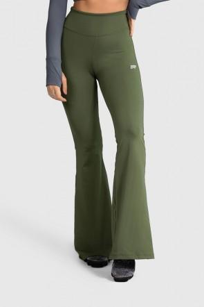 Calça Flare Fitness Básica (Verde Militar) | Ref: GO4-I