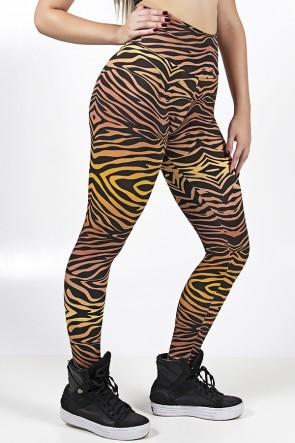 Legging Estampada Tigre Amarelo e Marrom | Ref: CA518