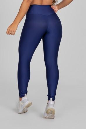 Calça Legging Básica com Cós Triangular (Azul Marinho) | Ref: K2890-D