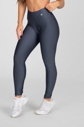 Calça Legging Básica com Cós Triangular (Chumbo) | Ref: K2890-C